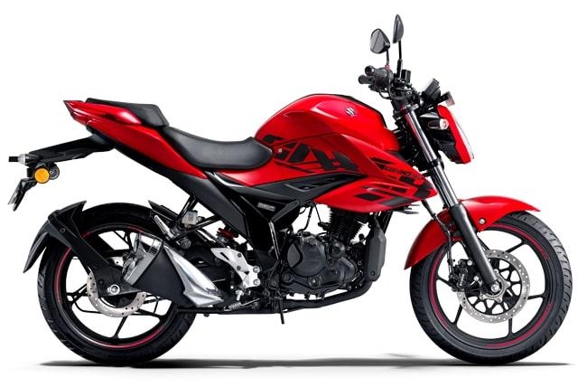 gixxer 150 bs6 red