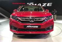 2018 Honda Amaze Front 1 (New Honda Amaze Variants)