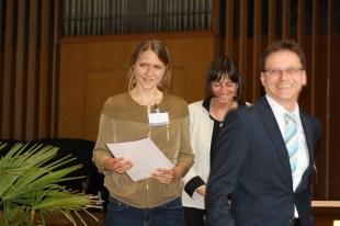 Britta Waldschmidt-Nelson and Thomas Schaber (Steiner Verlag) with Franz Steiner Prize winner Elisabeth Engel (left)