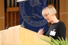 Antje Kley during her keynote address