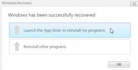 Windows 8 Restore Apps