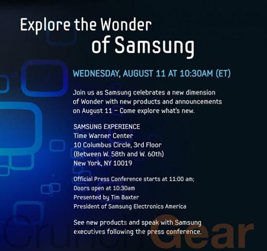 Samgun Galaxy Tablet Evento Agosto