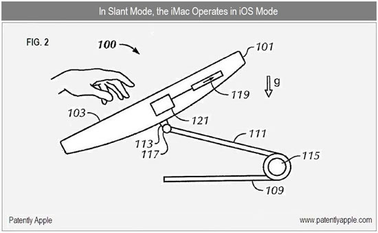Apple patente iMac tactil