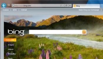 Microsoft Internet Explorer 9 interfaz