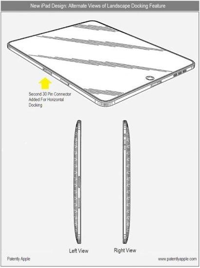 Apple iPad Patente doble conector dock