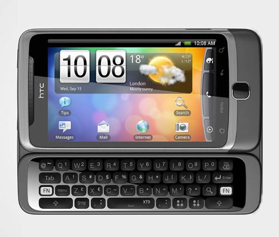 HTC Desire Z Teclado