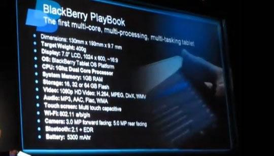 BlackBerry Play Book 16 32 64GB