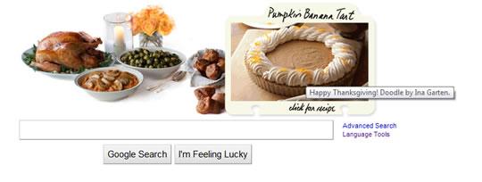 Accion de Gracias o Thanksgiving Doodle de Google