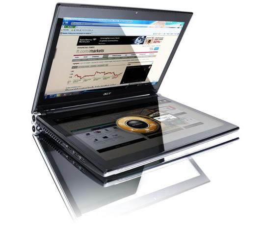 Acer con dos pantallas táctiles