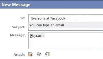 Facebook e-mail