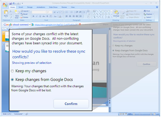 Google Docs Clous Connect Microsoft Office