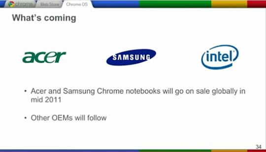 Chrome OS es anunciado para el 2011
