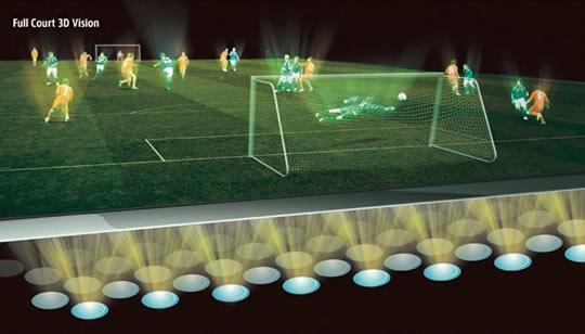 Transmisión holográfica 3D de mundial de futbol