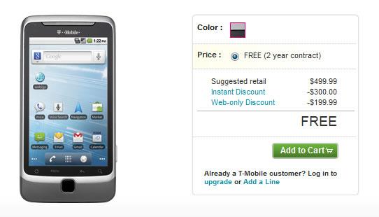 T-Mobile G2 Gratis - Estados Unidos
