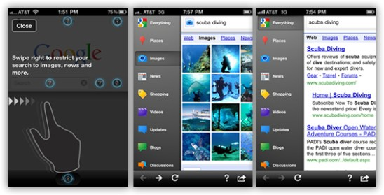 Google Search App para iPhone
