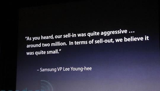 Steve Jobs cita mal a Samsung