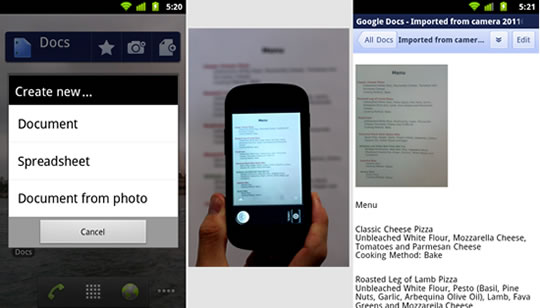 Google Docs - Imagen a texto