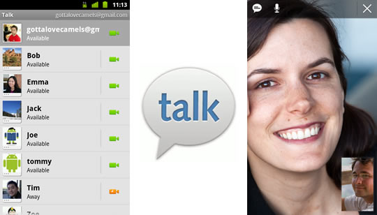Google Talk cn video llamadas
