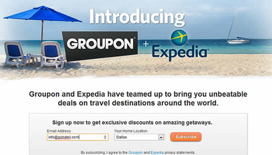 Groupon y Expedia