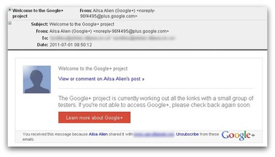 Google Plus spam
