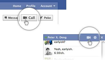Video chat de Skype en Facebook