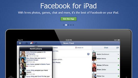 Facebook App para iPad