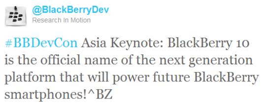 Blackberry OS Tweet