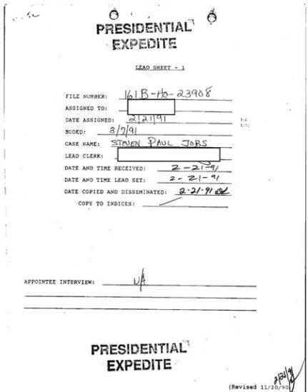 FBI Steve Jobs