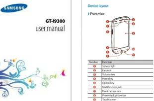 Samsung Galaxy S3 Manual