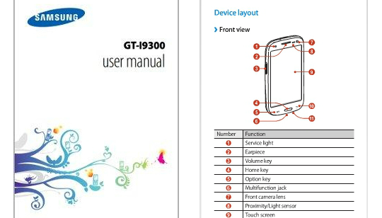 Samsung Galaxy S3 Manual