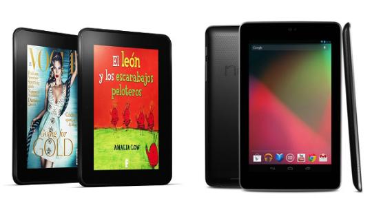 Comparación Nexus 7 Kindle Fire HD