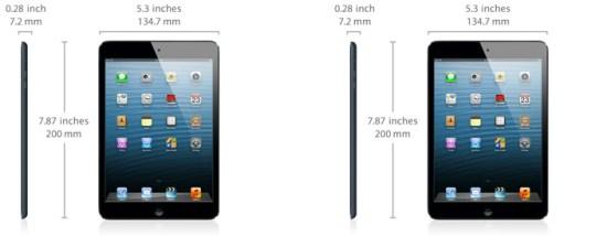 iPad mini Dimensiones