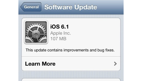 Apple iOS 6.1