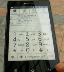 Celular Android con Tinta Electronica