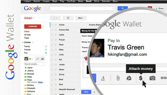 Google Wallet Gmail