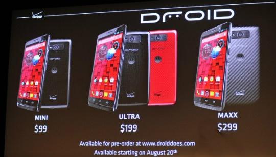 Motorola Droid Ultra Maxx y Mini