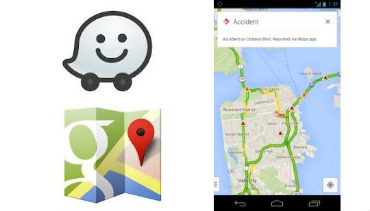 Waze en Google Maps