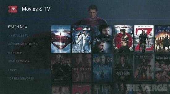 Android TV Interfaz
