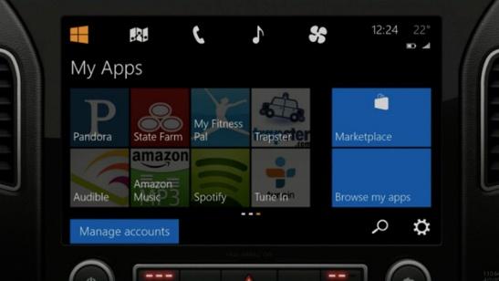 Windows en el carro Windows Phone