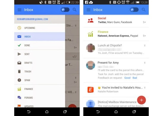 Nuevo Gmail Android