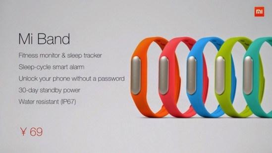 Xiaomi Mi Band colores