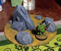 wargaming terrain - rocky outcrops