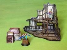 scratch built wargaming terrain - ladder
