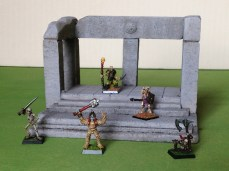Small ruined temple model with Undeads