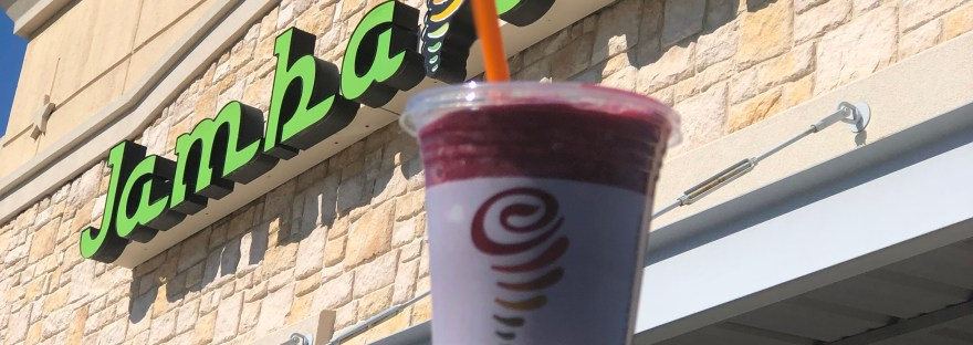 Pomegranate flavor at Jamba Juice