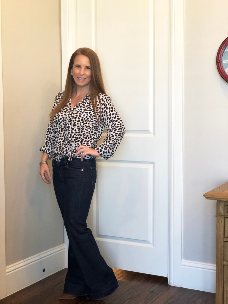 leopard blouse for work or night out