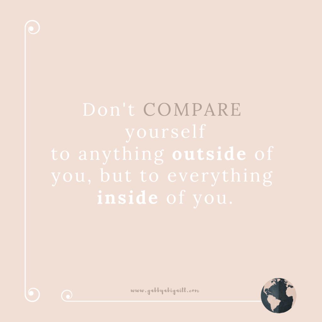 A quote about comparison