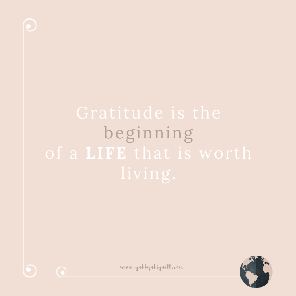 A quote about gratitude