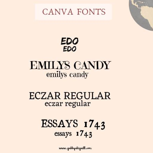 Fonts that start with the letter E