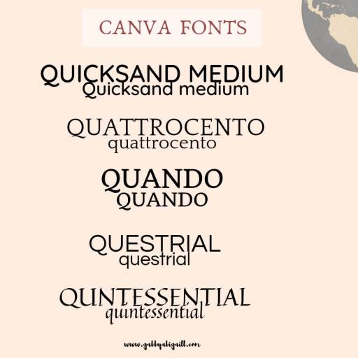 Fonts that start with the letter Q